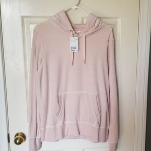 Pink Velour Hoodie SIZE L